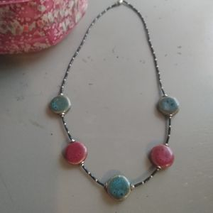 Short natural stone necklace